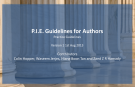 P.I.E. Guidelines for Authors 1