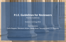 P.I.E. Guidelines for Reviewers 1