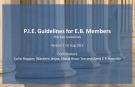 P.I.E. Guidelines for E.B. Members 1