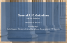 General P.I.E. Guidelines 1